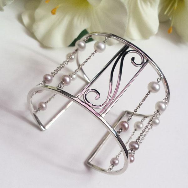 bracciale-rigido-perle-dani-creazioni-gioielli